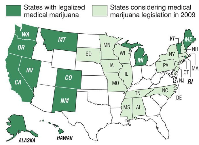 Legal Marijuana States Map
