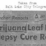Epilepsy May Reschedule Medical Marijuana