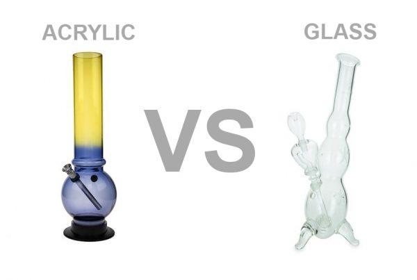ACRYLIC glass bongs